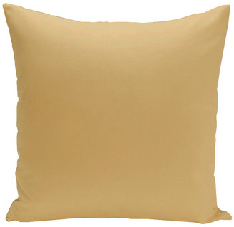 """E By Design Solid Print Pillow, Gold, 18""""x18"""""""
