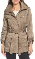 Ellen Tracy Techno Short Trench Coat