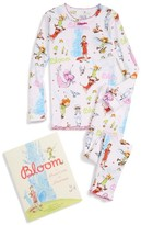 Girl's Books To Bed Bloom Fitted Two-Piece Pajamas & Book Set