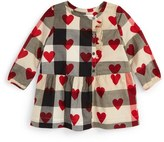 Burberry 'Mini Alaya' Check & Heart Print Dress (Baby Girls)