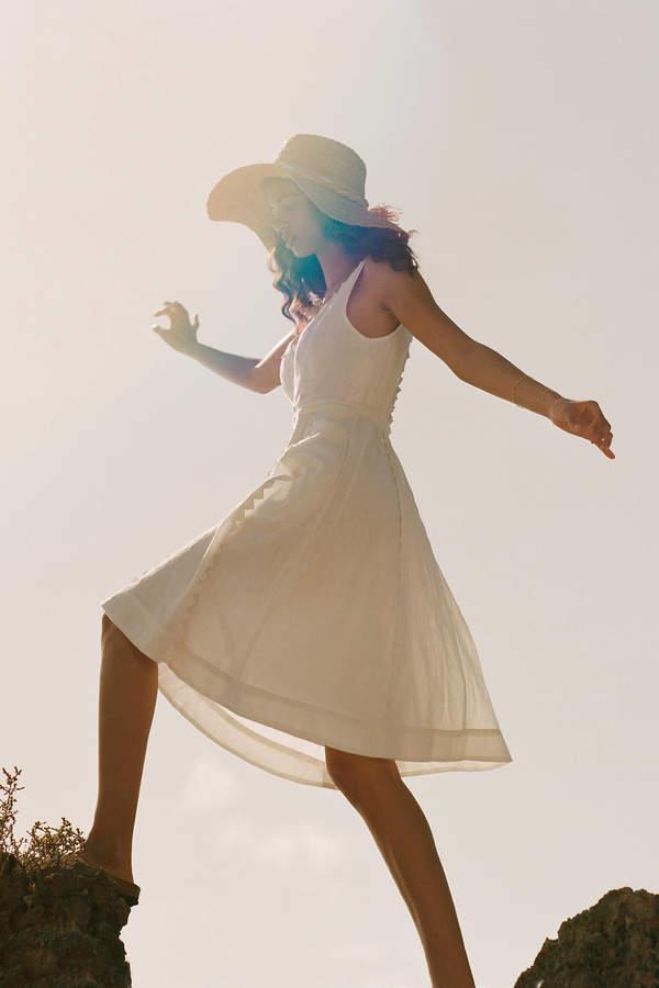 Anthropologie Brighton Dress By in White Size 0