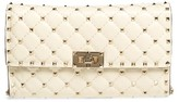 Valentino Women's Rockstud Spike Wallet On A Chain - White