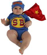 Sozo Super Baby Newborn Bodysuit and Cap Set, Multicolor