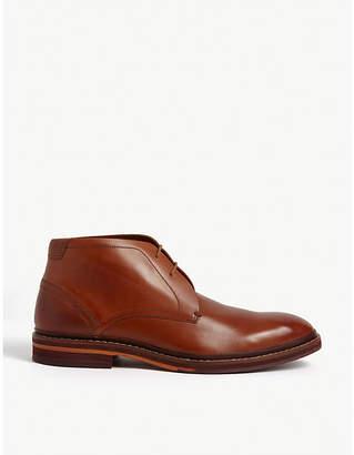 Ted Baker Corrins leather desert boots