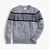 J.Crew Boys' striped cotton crewneck sweater