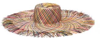 Eugenia Kim Valentinia Palm Straw Wide-Brim Sun Hat