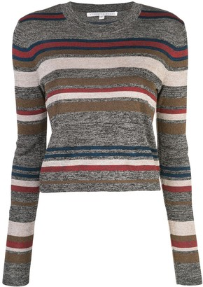 Veronica Beard Striped Knitted Top
