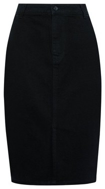 Dorothy Perkins Womens Black Organic Cotton Denim Midi Skirt, Black