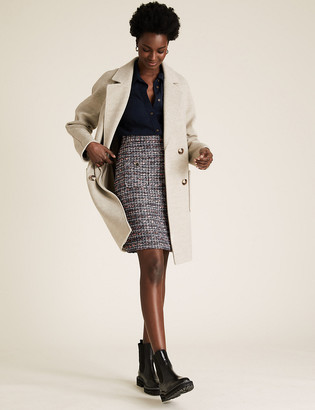 Marks and Spencer Tweed Mini A-Line Skirt
