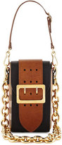 Burberry Belt Oblong House Check Shoulder Bag, Black