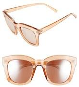 BP Women's 50Mm Mirror Square Sunglasses - Rose Gold