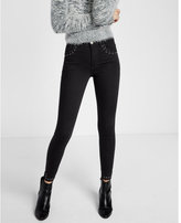 Express high waisted laced detail stretch ankle jean legging