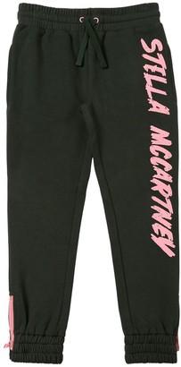 Stella Mccartney Kids Logo Print Cotton Sweatpants