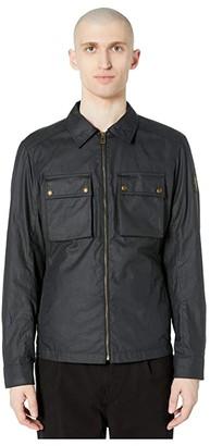 Belstaff Dunstall 6 oz Waxed Cotton Jacket (Dark Navy) Men's Clothing