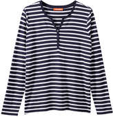 Joe Fresh Women's Stripe Pattern Tee, Grey Mix (Size S)