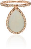 Nina Runsdorf 18K Rose Gold Opal And Diamond Flip Ring