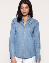 ASOS Crosshatch Denim Shirt