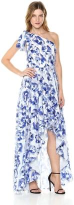 Nicole Miller Women's Fringe Fabulous High Low Gown