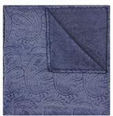 Moss Bros Mens Blue Paisley Silk Pocket Square