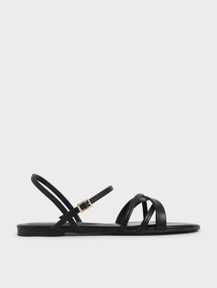 Charles & Keith Criss-Cross Ankle Strap Flats