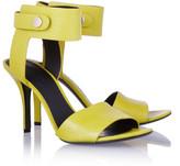 Amber lizard-effect sandals