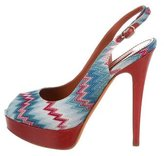 Missoni Chevron Slingback Pumps