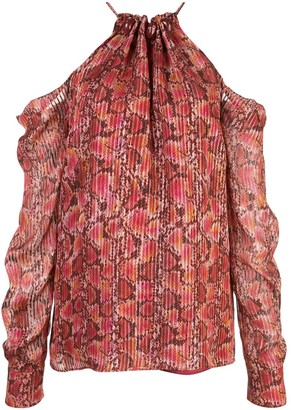 Altuzarra silk snake print blouse