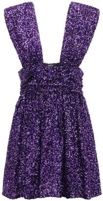 Amen Sleeveless Sequined Mini Dress