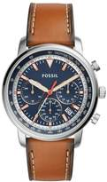 Fossil Men's Brown Leather Strap Chronograph Watch