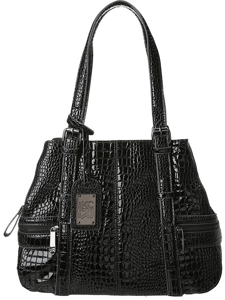 Kenneth Cole Reaction Mercer Street Satchel Croco (Black) - Bags and Luggage