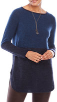 in cashmere Color Block Cashmere Tunic Sweater