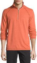 Tommy Bahama Quarter-Zip Stretch-Knit Jacket, Redwood