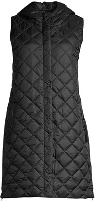Eileen Fisher Quilted Recycled Fabric Longline Vest