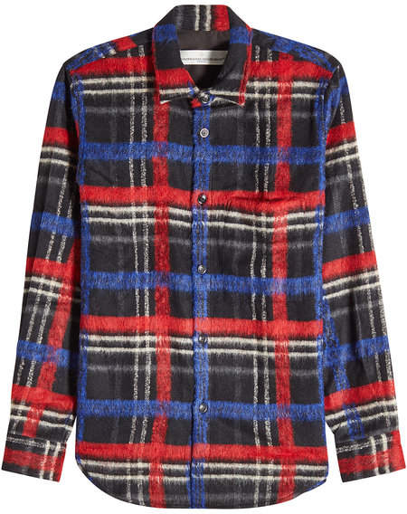 Golden Goose Printed Shirt with Wool, Alpaca and Mohair