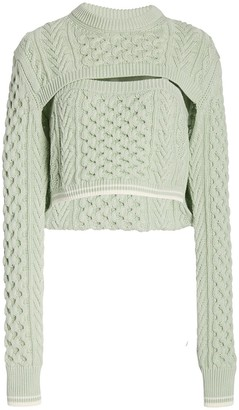 Rosie Assoulin Thousand-In-One-Ways Cable Knit Sweater