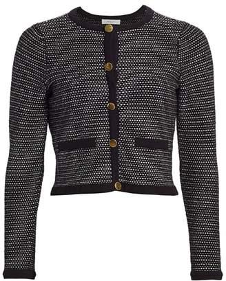 Milly Tweed Cropped Cardigan
