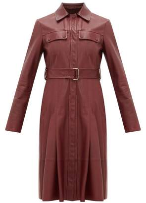 Sportmax Pausa Shirtdress - Womens - Burgundy