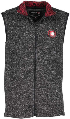 Canada Weather Gear Men's Non-Denim Casual Jackets Charcoal - Charcoal Marled Zip-Up Vest - Men