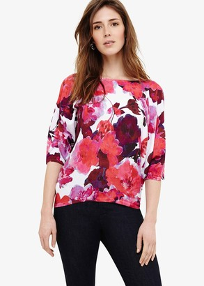 Phase Eight Alice Cotton Floral Print Knit Top