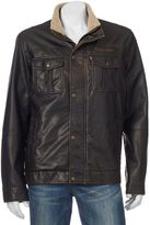 Levi's Men's Sherpa-Lined Faux-Leather Trucker Jacket