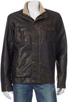 Levi's Men's Sherpa-Lined Faux-Leather Trucker Jacket