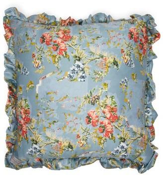 Preen by Thornton Bregazzi Ruffled Floral-print Satin Cushion - Light Pink