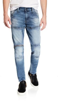 G Star G-Star Men's 3-D Elto Slim Zip-Knee Moto Jeans