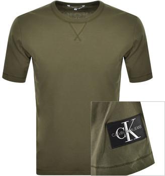 Calvin Klein Jeans Monogram Logo T Shirt Green