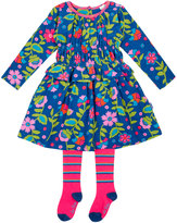 Le Top Divine Smocked Corduroy Dress & Tights