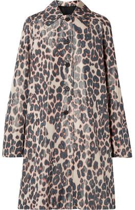 Calvin Klein Printed Taffeta Coat - Beige