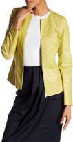 Lafayette 148 New York Maris Leather Jacket