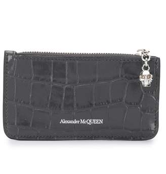 Alexander McQueen crocodile embossed coin pouch