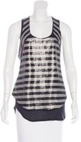 Robert Rodriguez Sequin-Embellished Sleeveless Top