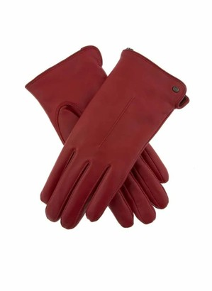Dents Samantha Women's Faux Fur Lined Leather Gloves BERRY L
